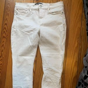 White Express stretch jeans
